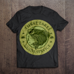 three lakes t shirt for services design logo