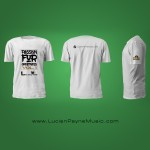 White Music T Shirt Design. Print your logo on t shirt.