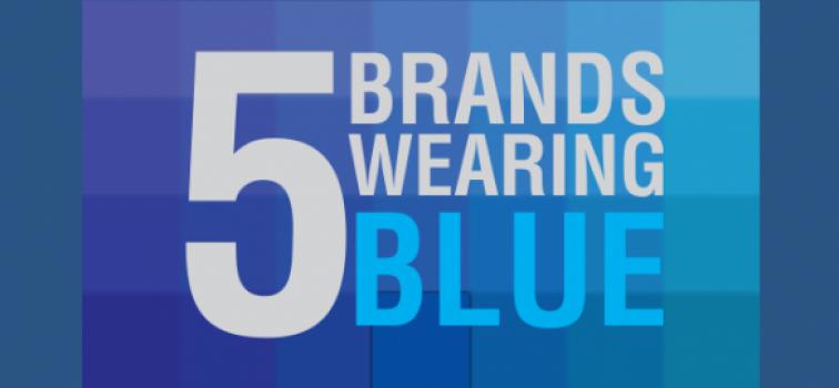 5 Simple brands wearing blue