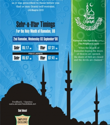 Ramazan Timing